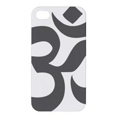 Hindu Om Symbol (dark Gray)  Apple Iphone 4/4s Premium Hardshell Case by abbeyz71