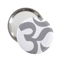 Hindu Om Symbol (light Gray) 2 25  Handbag Mirrors by abbeyz71