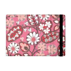 Pink Flower Pattern Ipad Mini 2 Flip Cases by Nexatart
