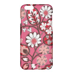 Pink Flower Pattern Apple Iphone 6 Plus/6s Plus Hardshell Case by Nexatart