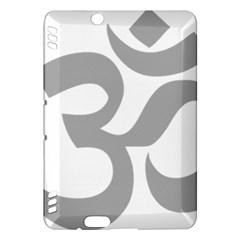 Hindu Om Symbol (light Gray) Kindle Fire Hdx Hardshell Case by abbeyz71