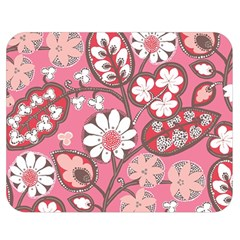 Pink Flower Pattern Double Sided Flano Blanket (medium)  by Nexatart