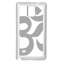Hindu Om Symbol (light Gray) Samsung Galaxy Note 4 Case (white) by abbeyz71