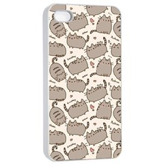 Pusheen Wallpaper Computer Everyday Cute Pusheen Apple Iphone 4/4s Seamless Case (white) by Nexatart