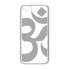 Hindu Om Symbol (light Gray) Apple Iphone 5c Seamless Case (white) by abbeyz71