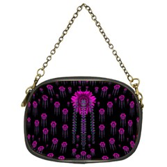 Wonderful Jungle Flowers In The Dark Chain Purses (one Side)  by pepitasart