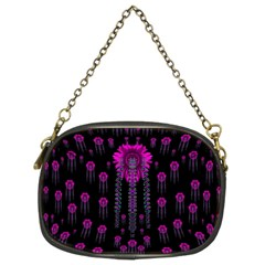 Wonderful Jungle Flowers In The Dark Chain Purses (two Sides)  by pepitasart