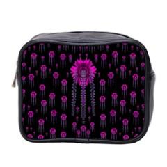 Wonderful Jungle Flowers In The Dark Mini Toiletries Bag 2 Side by pepitasart