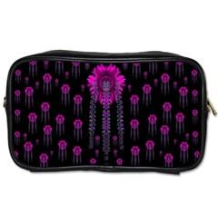 Wonderful Jungle Flowers In The Dark Toiletries Bags 2 Side by pepitasart