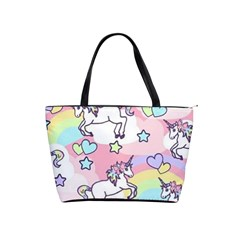 Unicorn Rainbow Shoulder Handbags by Nexatart