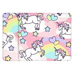 Unicorn Rainbow Samsung Galaxy Tab 8 9  P7300 Flip Case by Nexatart