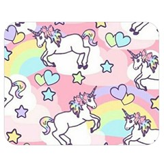 Unicorn Rainbow Double Sided Flano Blanket (medium)  by Nexatart