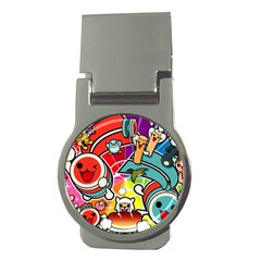 Cute Doodles Wallpaper Background Money Clips (round)