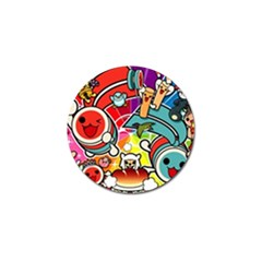 Cute Doodles Wallpaper Background Golf Ball Marker by Nexatart