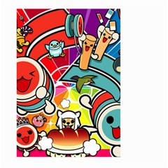 Cute Doodles Wallpaper Background Large Garden Flag (two Sides) by Nexatart