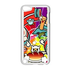 Cute Doodles Wallpaper Background Apple Ipod Touch 5 Case (white) by Nexatart