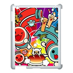 Cute Doodles Wallpaper Background Apple Ipad 3/4 Case (white) by Nexatart