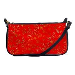 Golden Swrils Pattern Background Shoulder Clutch Bags by Nexatart