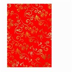 Golden Swrils Pattern Background Large Garden Flag (two Sides) by Nexatart