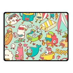 Summer Up Pattern Fleece Blanket (Small)