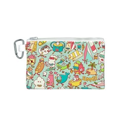Summer Up Pattern Canvas Cosmetic Bag (s) by Nexatart
