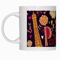 Cute Colorful Doodles Colorful Cute Doodle Paris White Mugs by Nexatart