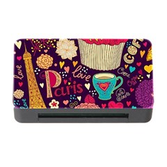 Cute Colorful Doodles Colorful Cute Doodle Paris Memory Card Reader With Cf by Nexatart
