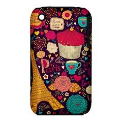 Cute Colorful Doodles Colorful Cute Doodle Paris Iphone 3s/3gs by Nexatart