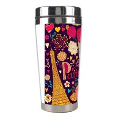 Cute Colorful Doodles Colorful Cute Doodle Paris Stainless Steel Travel Tumblers by Nexatart