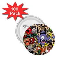 Hipster Wallpaper Pattern 1 75  Buttons (100 Pack)  by Nexatart