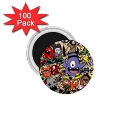 Hipster Wallpaper Pattern 1 75  Magnets (100 Pack)  by Nexatart
