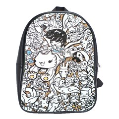 Cute Doodles School Bags(large)  by Nexatart