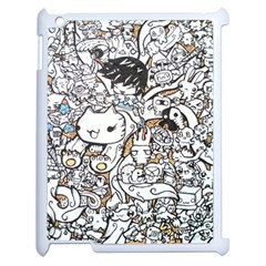 Cute Doodles Apple Ipad 2 Case (white) by Nexatart