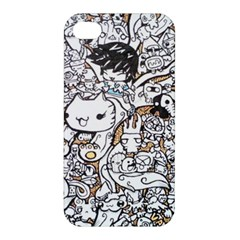 Cute Doodles Apple Iphone 4/4s Premium Hardshell Case by Nexatart