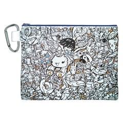 Cute Doodles Canvas Cosmetic Bag (xxl) by Nexatart