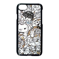 Cute Doodles Apple Iphone 7 Seamless Case (black) by Nexatart
