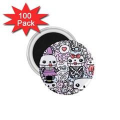 Kawaii Graffiti And Cute Doodles 1 75  Magnets (100 Pack)  by Nexatart