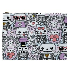 Kawaii Graffiti And Cute Doodles Cosmetic Bag (xxl)  by Nexatart