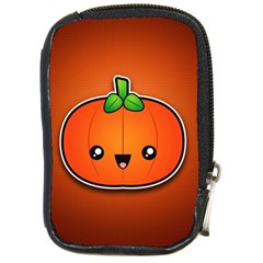 Simple Orange Pumpkin Cute Halloween Compact Camera Cases by Nexatart