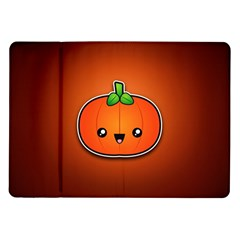 Simple Orange Pumpkin Cute Halloween Samsung Galaxy Tab 10 1  P7500 Flip Case by Nexatart