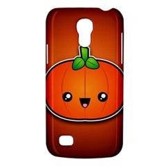 Simple Orange Pumpkin Cute Halloween Galaxy S4 Mini by Nexatart