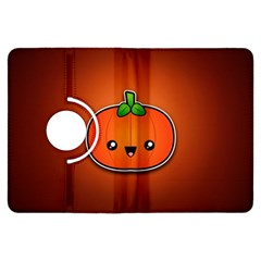 Simple Orange Pumpkin Cute Halloween Kindle Fire Hdx Flip 360 Case by Nexatart