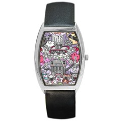 0 Sad War Kawaii Doodle Barrel Style Metal Watch by Nexatart