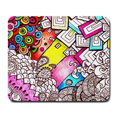 Beautiful Colorful Doodle Large Mousepads