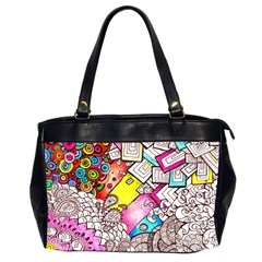 Beautiful Colorful Doodle Office Handbags (2 Sides)  by Nexatart