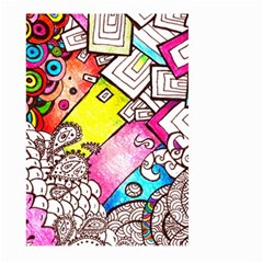 Beautiful Colorful Doodle Large Garden Flag (two Sides) by Nexatart