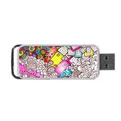 Beautiful Colorful Doodle Portable Usb Flash (two Sides) by Nexatart