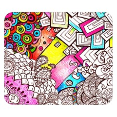 Beautiful Colorful Doodle Double Sided Flano Blanket (small)  by Nexatart