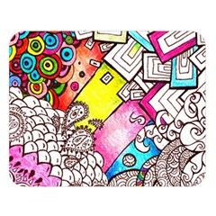 Beautiful Colorful Doodle Double Sided Flano Blanket (large)  by Nexatart