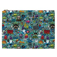 Colorful Drawings Pattern Cosmetic Bag (xxl)  by Nexatart